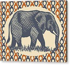 Gray Elephant Acrylic Print by Flo Karp
