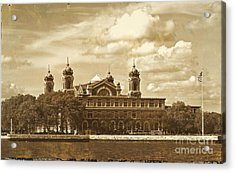 Acrylic Print featuring the photograph Vintage Ellis Island by Eleanor Abramson