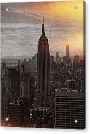 Vintage Empire State Building Acrylic Print
