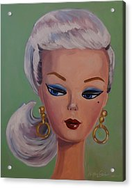Vintage Fashion Doll Series  Acrylic Print by Kelley Smith