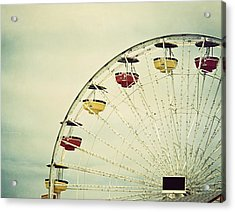 Vintage Ferris Wheel Acrylic Print by Kim Hojnacki