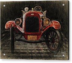 Vintage Fire Truck  ... Acrylic Print by Chuck Caramella