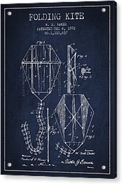 Vintage Folding Kite Patent From 1892 Acrylic Print by Aged Pixel