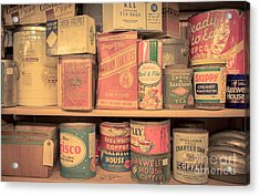Vintage Food Pantry Acrylic Print by Edward Fielding