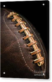 Vintage Football Acrylic Print by Diane Diederich