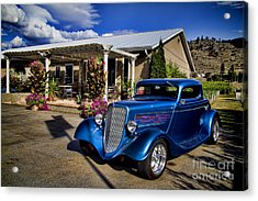 Vintage Ford Coupe At Oliver Twist Winery Acrylic Print
