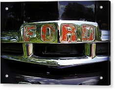 Vintage Ford Acrylic Print by Laurie Perry