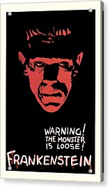 Vintage Frankenstein Movie Art Acrylic Print