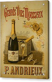 Vintage French Poster Andrieux Wine Acrylic Print by Olivier Le Queinec