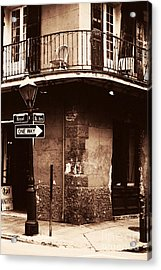 Vintage French Quarter Acrylic Print by John Rizzuto