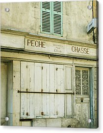 Vintage French Shops Series No.1 Acrylic Print by Georgia Fowler