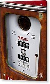 Vintage Fuel Pump Acrylic Print