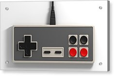 Vintage Gaming Acrylic Print by Allan Swart