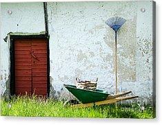 Acrylic Print featuring the photograph Vintage Garden Equipment by Kennerth and Birgitta Kullman