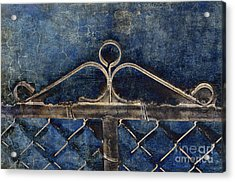 Vintage Gate - Fence - Chain Link - Texture - Abstract Acrylic Print by Andee Design