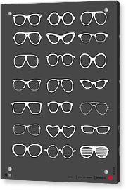 Vintage Glasses Poster 2 Acrylic Print
