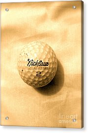 Vintage Golf Ball Acrylic Print
