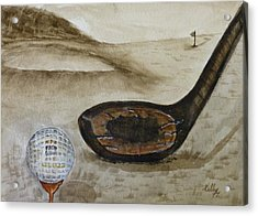 Vintage Golfing In The Early 1900s Acrylic Print by Kelly Mills