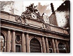 Vintage Grand Central Terminal Acrylic Print by John Rizzuto