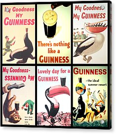 Vintage Guinness  Acrylic Print