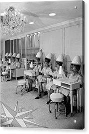 Vintage Hair Salon 2 Acrylic Print