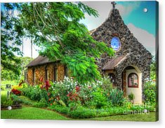 Vintage Hawaiian Church Acrylic Print