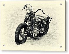 Vintage Hd Panhead Acrylic Print by Tim Gainey