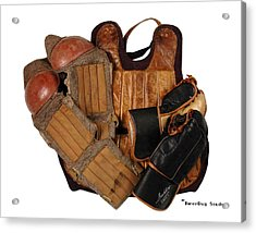 Vintage Hockey Equipment #3 Acrylic Print