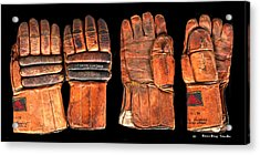 Vintage Hockey Gloves #1 Acrylic Print