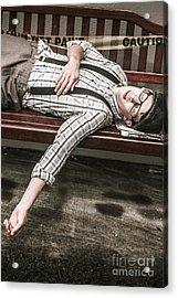Vintage Homeless Man Acrylic Print