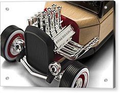 Acrylic Print featuring the photograph Vintage Hot Rod Engine by Gianfranco Weiss