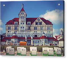 Acrylic Print featuring the photograph Vintage Hotel Baltic Sea by Art Photography