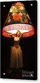Vintage Hula Girl Lamp Acrylic Print