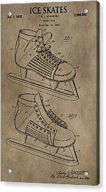 Vintage Ice Skates Patent Acrylic Print