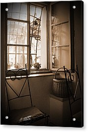 Vintage Interior With A Wooden Framed Window Acrylic Print