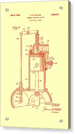 Vintage Internal Combustion Engine Patent 1940 Acrylic Print