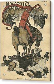 Vintage Jugend Magazine Cover Acrylic Print