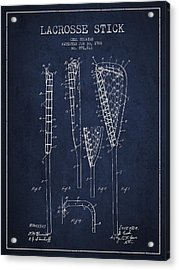 Vintage Lacrosse Stick Patent From 1908 Acrylic Print by Aged Pixel
