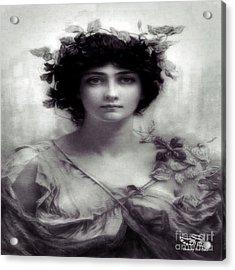 Vintage Lady Acrylic Print