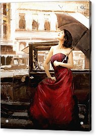Vintage Lady Acrylic Print by Robert Smith