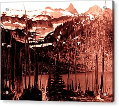 Acrylic Print featuring the photograph Vintage Lake Louise Early 1900 Era... by Eddie Eastwood