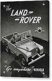 Vintage Land Rover Advert Acrylic Print