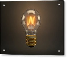 Vintage Light Bulb Acrylic Print by Scott Norris