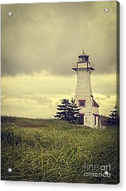 Vintage Lighthouse Pei Acrylic Print by Edward Fielding