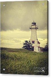 Vintage Lighthouse Pei Acrylic Print by Edward Fielding
