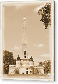 Vintage Lincoln's Tomb Acrylic Print by Luther Fine Art