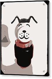 Vintage Lucky Dog Acrylic Print by Jennifer Rondinelli Reilly - Fine Art Photography