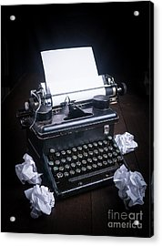 Vintage Manual Typewriter Acrylic Print by Edward Fielding