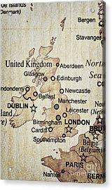 Vintage Map Of England Acrylic Print