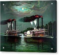 Vintage Maritime History Print Acrylic Print